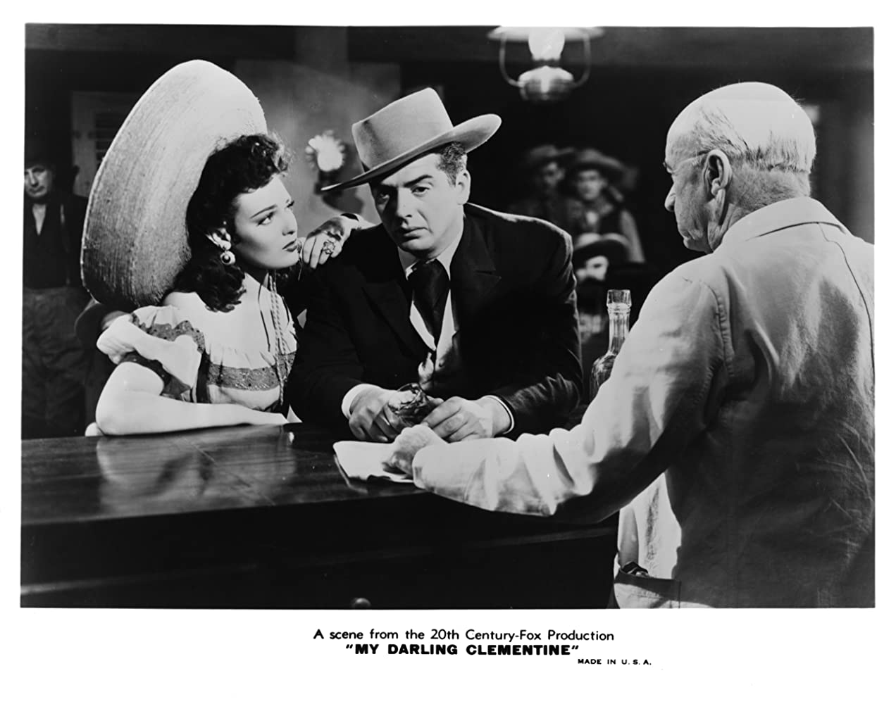 Linda Darnell, Victor Mature, and J. Farrell MacDonald in My Darling Clementine (1946)