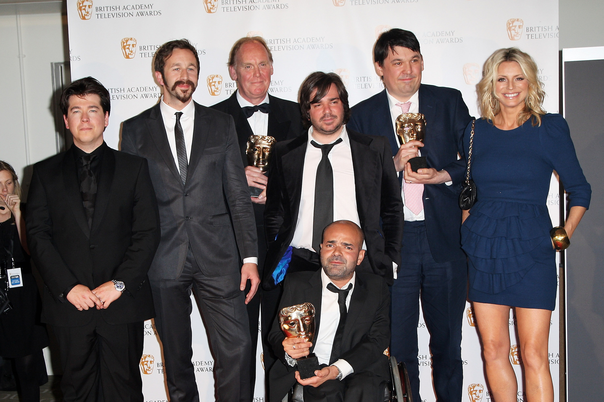 Richard Boden, Tess Daly, Graham Linehan, Ash Atalla, Chris O'Dowd, Matt Berry, and Michael McIntyre