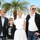 Delphine Chuillot, Arnaud des Pallières, Mads Mikkelsen, and Mélusine Mayance at an event for Michael Kohlhaas (2013)