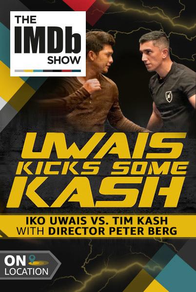 Tim Kash and Iko Uwais in The IMDb Show (2017)