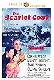 Anne Francis, Cornel Wilde, and Michael Wilding in The Scarlet Coat (1955)