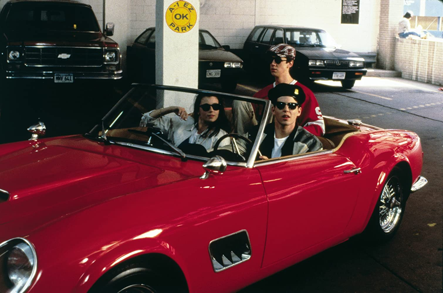 Matthew Broderick, Mia Sara, and Alan Ruck in Ferris Bueller's Day Off (1986)