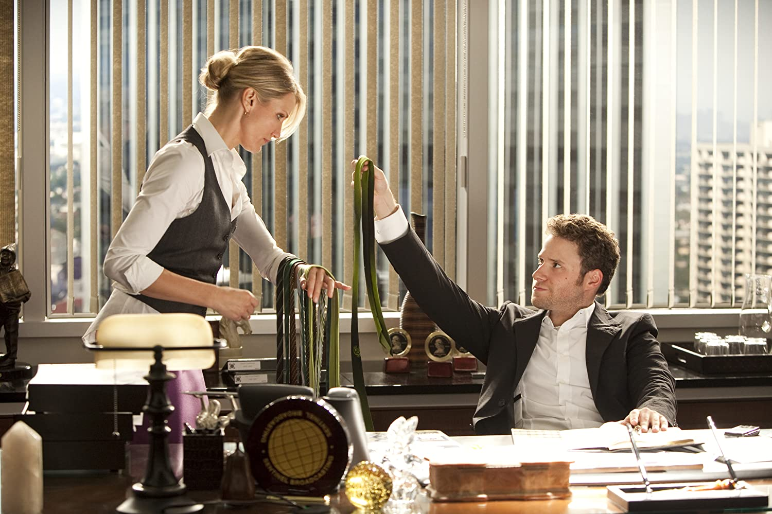 Cameron Diaz and Seth Rogen in The Green Hornet (2011)
