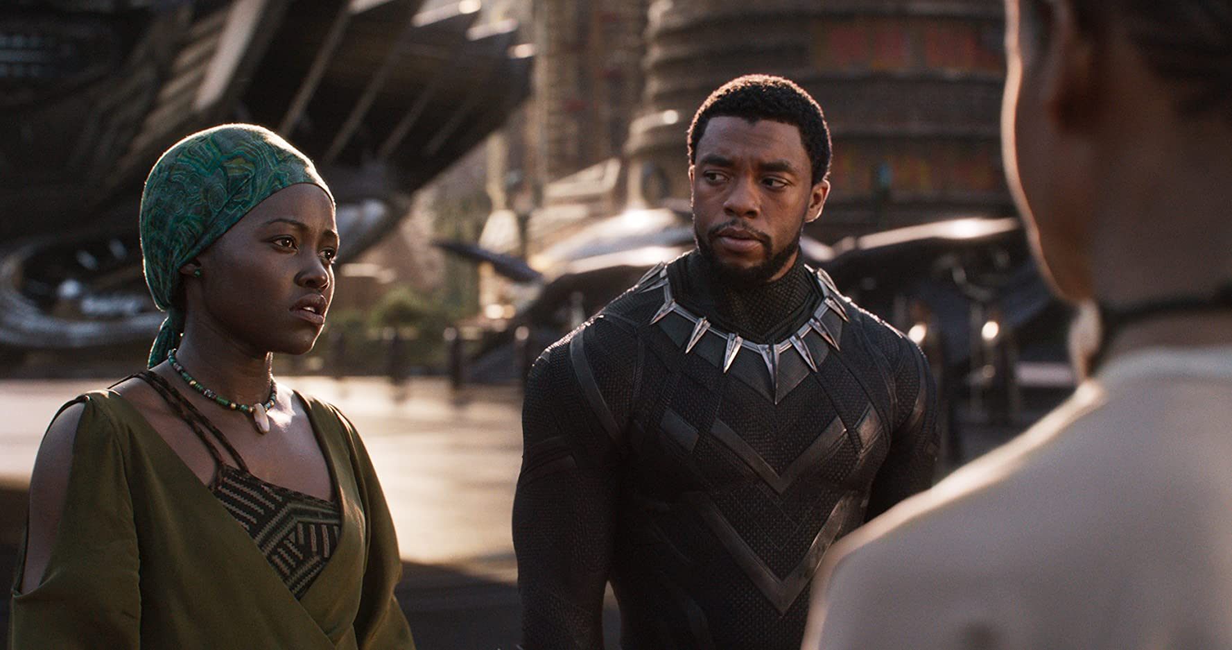 Chadwick Boseman and Lupita Nyong'o in Black Panther (2018)