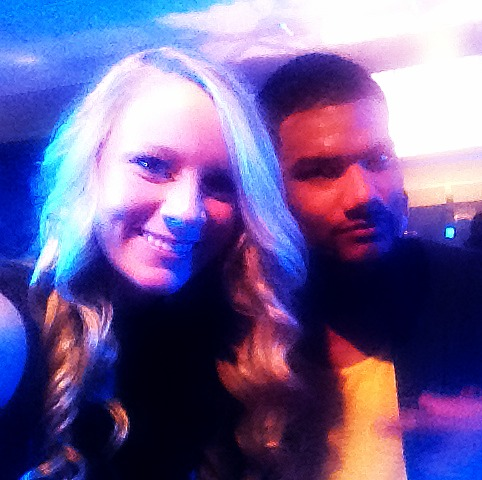 Madison on set of 'Second Generation Wayans' with star Damien Dante Wayans.