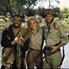 Sharon Stone, Richard Chamberlain, and James Earl Jones in Allan Quatermain and the Lost City of Gold (1986)