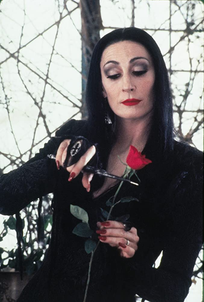 Morticia (Anjelica Huston) in The Addams Family (1991)