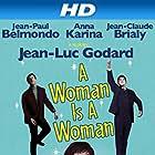 Jean-Paul Belmondo, Jean-Claude Brialy, and Anna Karina in Une femme est une femme (1961)