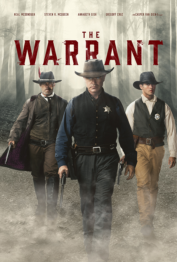Casper Van Dien, Neal McDonough, and Steven R. McQueen in The Warrant (2020)