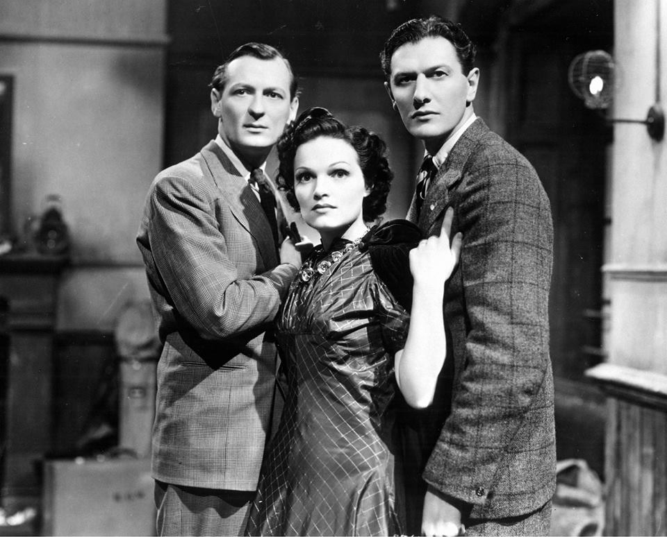 Richard Murdoch, Peter Murray-Hill, and Linden Travers in The Ghost Train (1941)