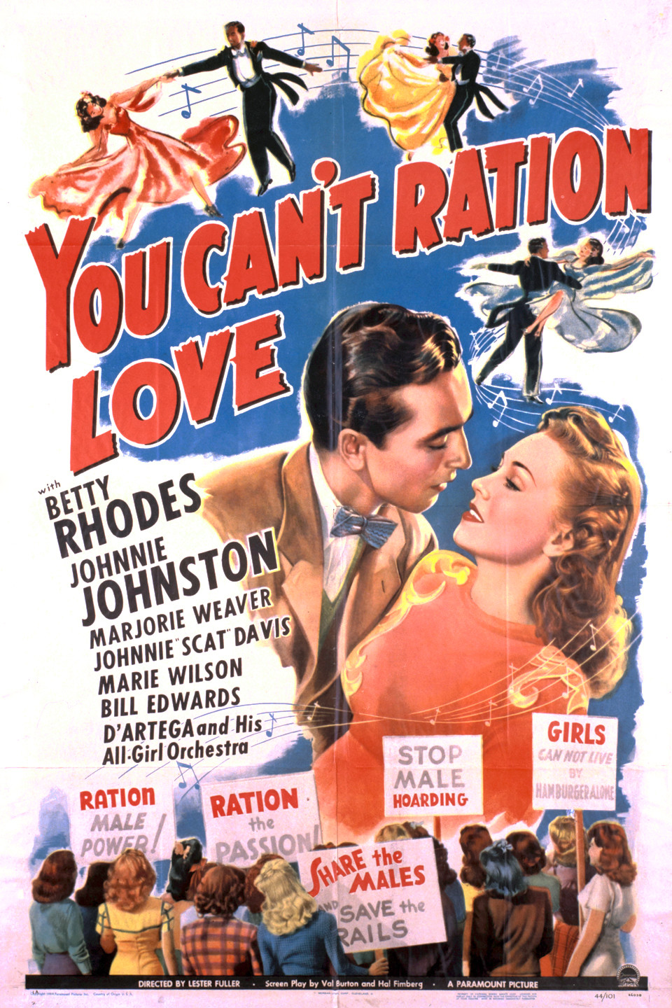 Johnny Johnston and Betty Jane Rhodes in You Can't Ration Love (1944)