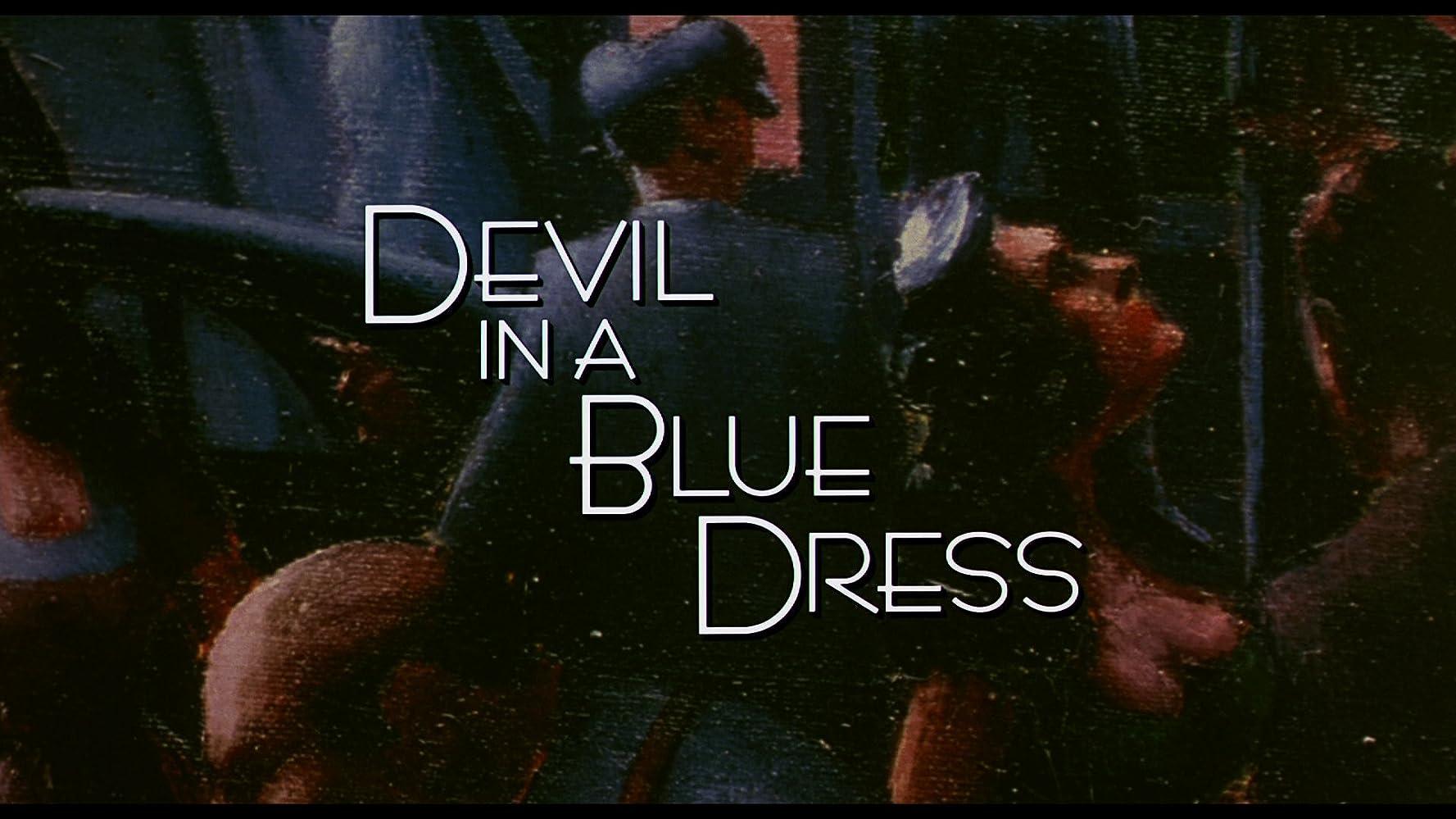 Book dress devil in a blue