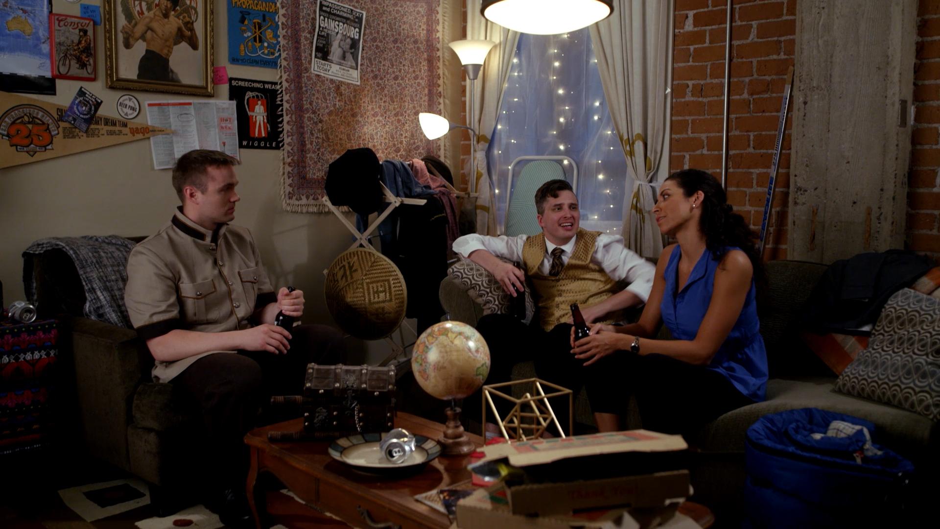Eric-Lee Olsen, Shana Eva, and Robert Sherry in Planet George (2020)