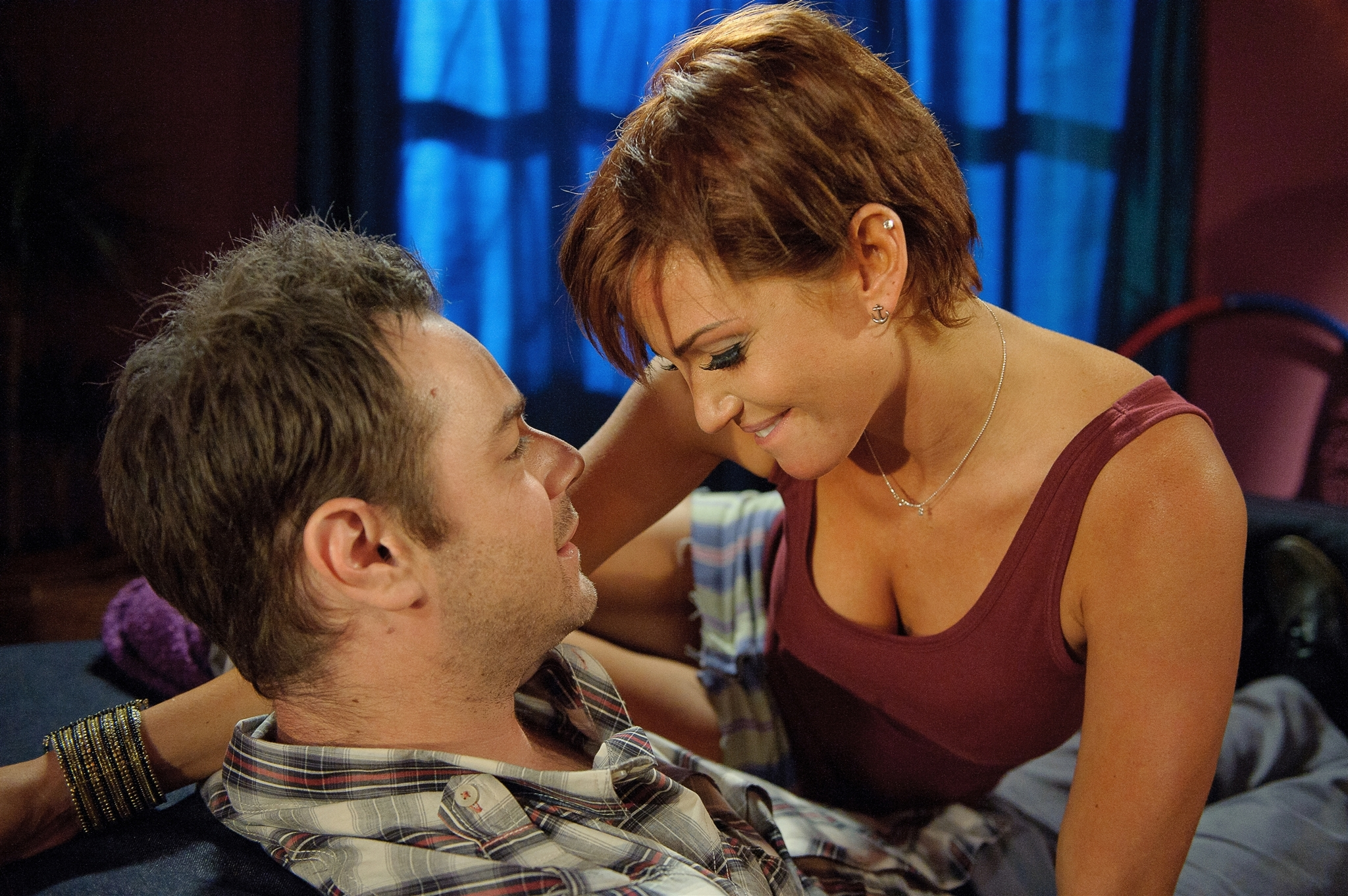 Danny Dyer and Sarah Harding in Run for Your Wife (2012)