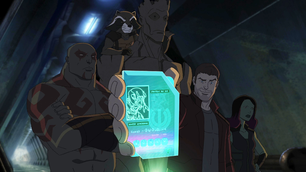 Trevor Devall, Will Friedle, Vanessa Marshall, Kevin Michael Richardson, and David Sobolov in Guardians of the Galaxy (2015)