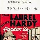 Oliver Hardy, Stan Laurel, and June Marlowe in Pardon Us (1931)
