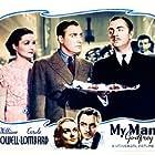 Carole Lombard, William Powell, Alan Mowbray, and Gail Patrick in My Man Godfrey (1936)