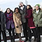 Steve Howey, Cameron Monaghan, Shanola Hampton, Isidora Goreshter, Ethan Cutkosky, and Emma Kenney in Shameless (2011)