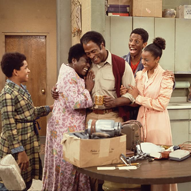 John Amos, Ralph Carter, Esther Rolle, BernNadette Stanis, and Jimmie Walker in Good Times (1974)