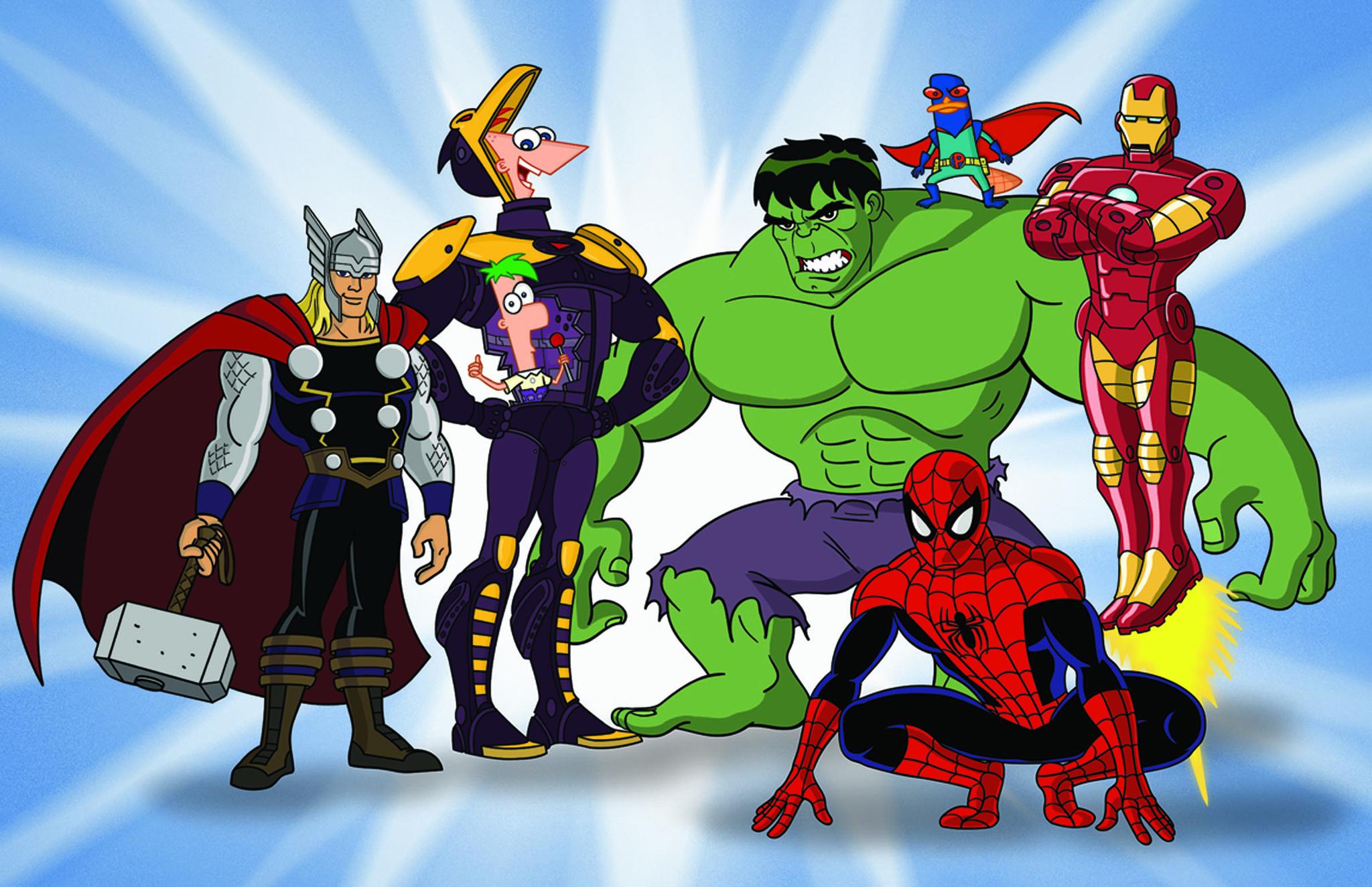 самые мульт картинки супергероев фиксируют