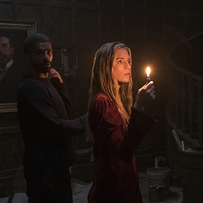 Brit Marling and Kingsley Ben-Adir in The OA (2016)