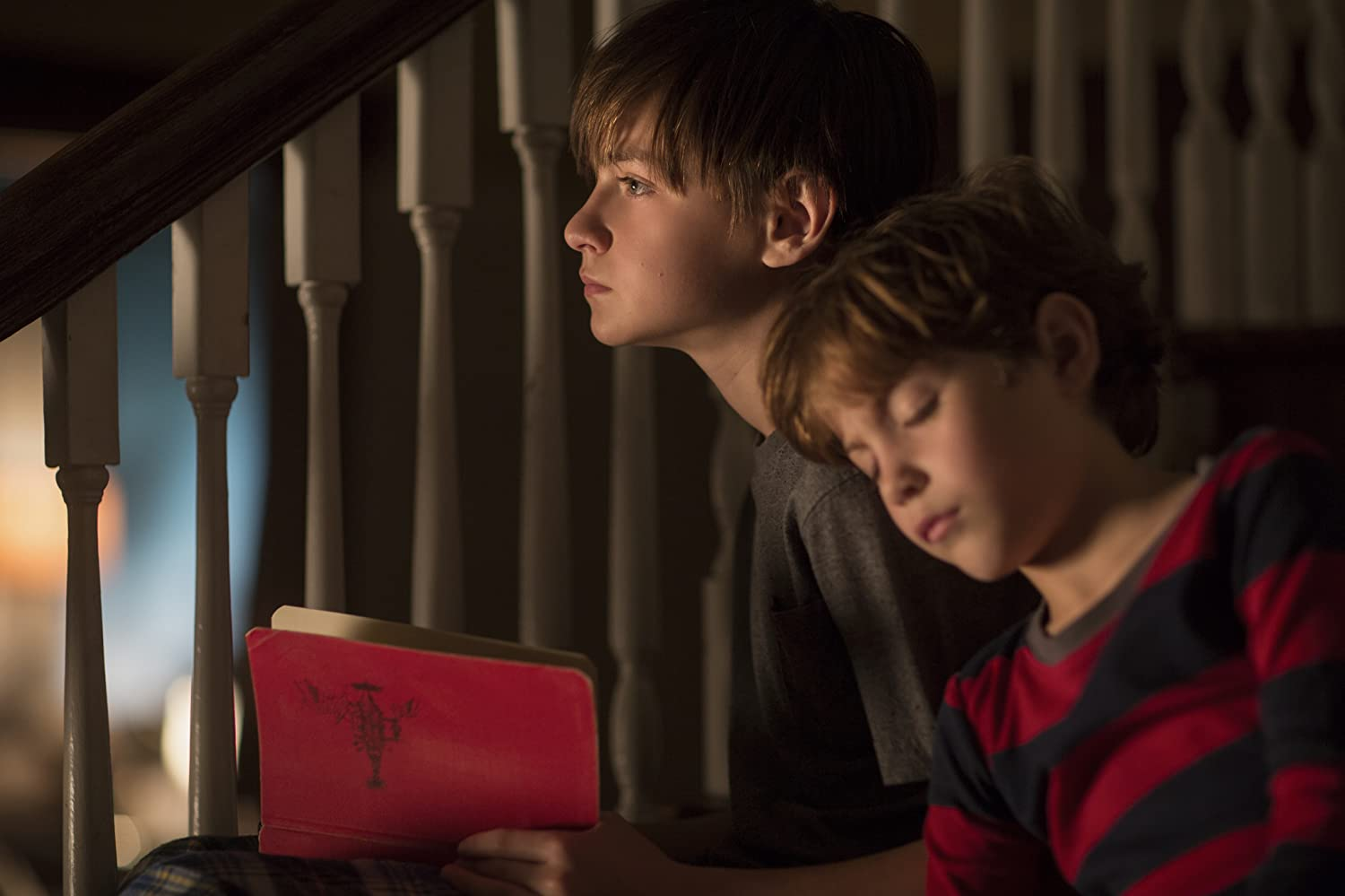 Jacob Tremblay and Jaeden Lieberher in The Book of Henry (2017)