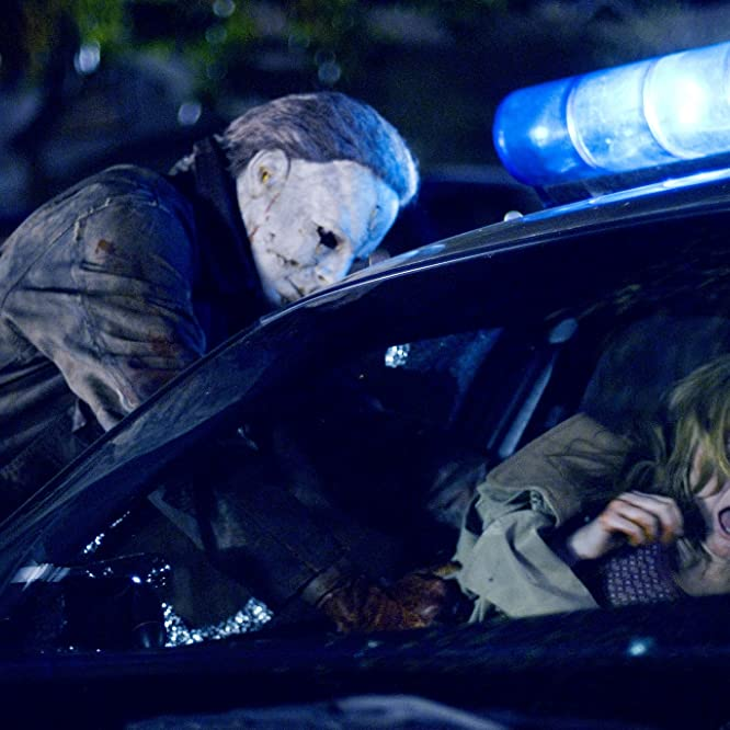 Scout Taylor-Compton and Tyler Mane in Halloween (2007)