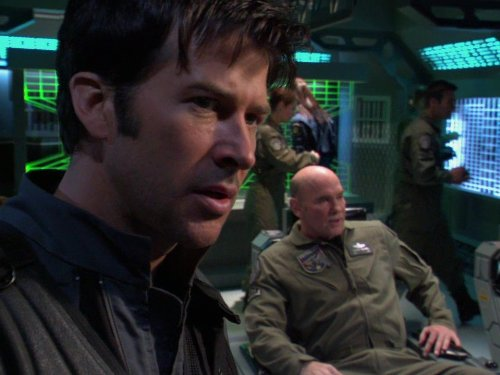 Joe Flanigan and Mitch Pileggi in Stargate: Atlantis (2004)