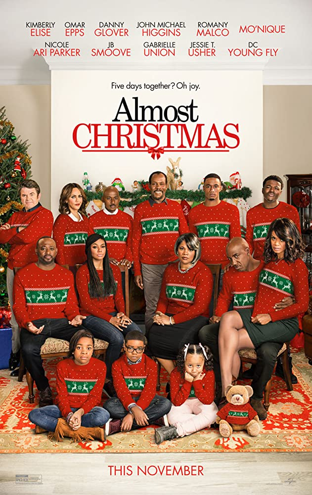 Danny Glover, Omar Epps, Gabrielle Union, Kimberly Elise, John Michael Higgins, Romany Malco, Mo'Nique, Nicole Ari Parker, J.B. Smoove, Jessie T. Usher, Nadej K. Bailey, Alkoya Brunson, D.C. Young Fly, and Marley Taylor in Almost Christmas (2016)
