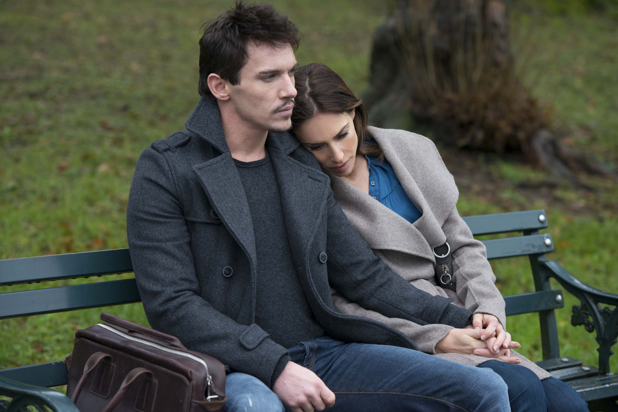 Claire Forlani and Jonathan Rhys Meyers in Another Me (2013)