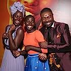 David Oyelowo, Lupita Nyong'o, and Madina Nalwanga at an event for Queen of Katwe (2016)