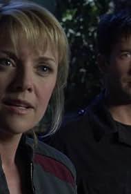 Joe Flanigan and Amanda Tapping in Stargate: Atlantis (2004)