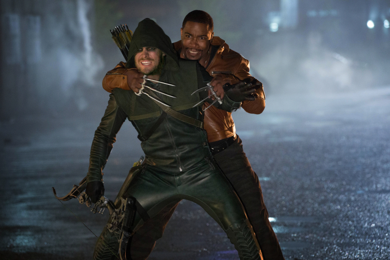 Michael Jai White and Stephen Amell in Arrow (2012)