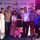 Cast of Prego, alongside director Usher Morgan at the 2015 Manhattan Film Festival.