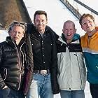 Dexter Fletcher, Hugh Jackman, Eddie 'The Eagle' Edwards, and Taron Egerton in Eddie the Eagle (2015)