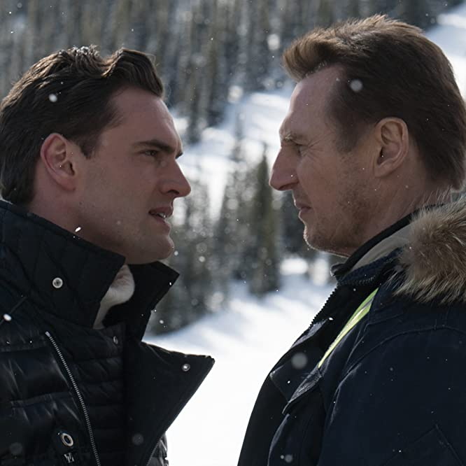 Liam Neeson and Tom Bateman in Cold Pursuit (2019)