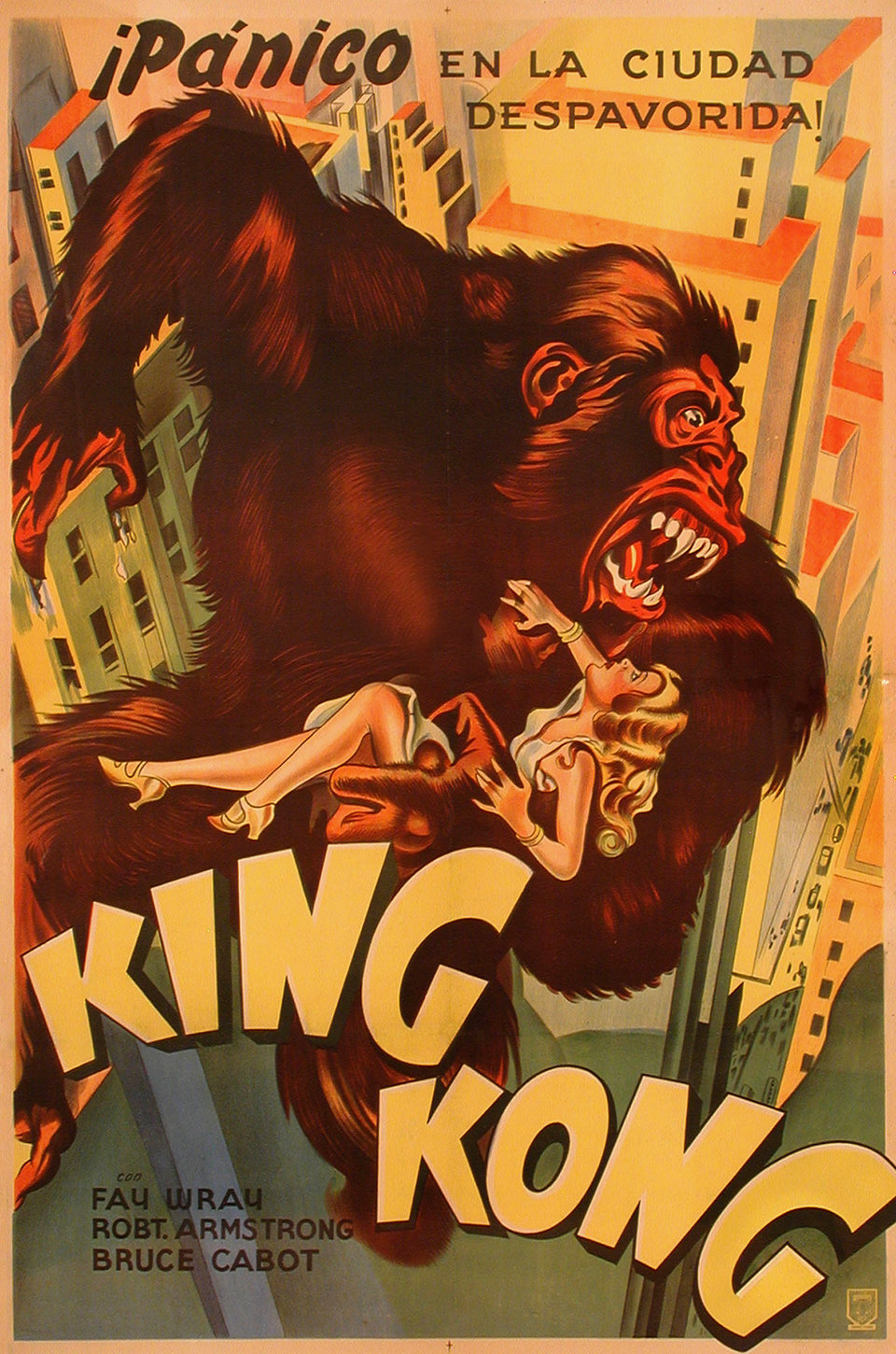 Fay Wray and King Kong in King Kong (1933)