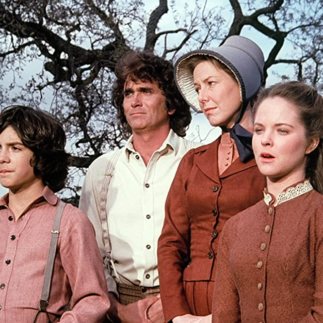 Melissa Sue Anderson, Michael Landon, Karen Grassle, and Matthew Labyorteaux in Little House on the Prairie (1974)