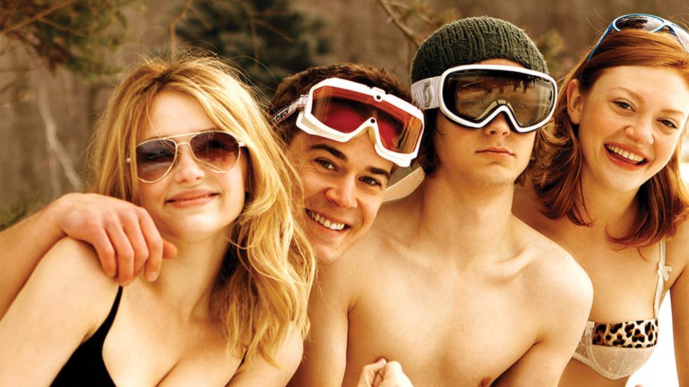 Haley Bennett, Colby Minifie, Logan Miller, and Josh Salatin in Deep Powder (2013)