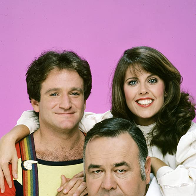 Robin Williams, Pam Dawber, and Jonathan Winters at an event for Mork & Mindy (1978)