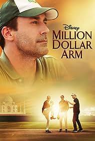 Jon Hamm, Madhur Mittal, and Suraj Sharma in Million Dollar Arm (2014)