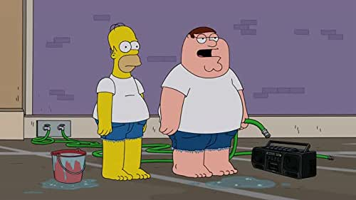 """Watch a scene from the """"Family Guy""""/""""Simpsons"""" crossover, """"Simpsons Guy""""."""
