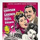 Ava Gardner, Joe E. Brown, Kathryn Grayson, and Howard Keel in Show Boat (1951)