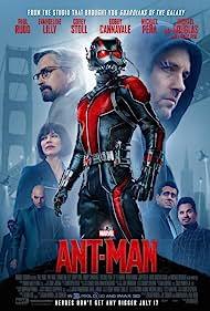 Michael Douglas, Bobby Cannavale, Michael Peña, Paul Rudd, Corey Stoll, Mark Knapton, and Evangeline Lilly in Ant-Man (2015)