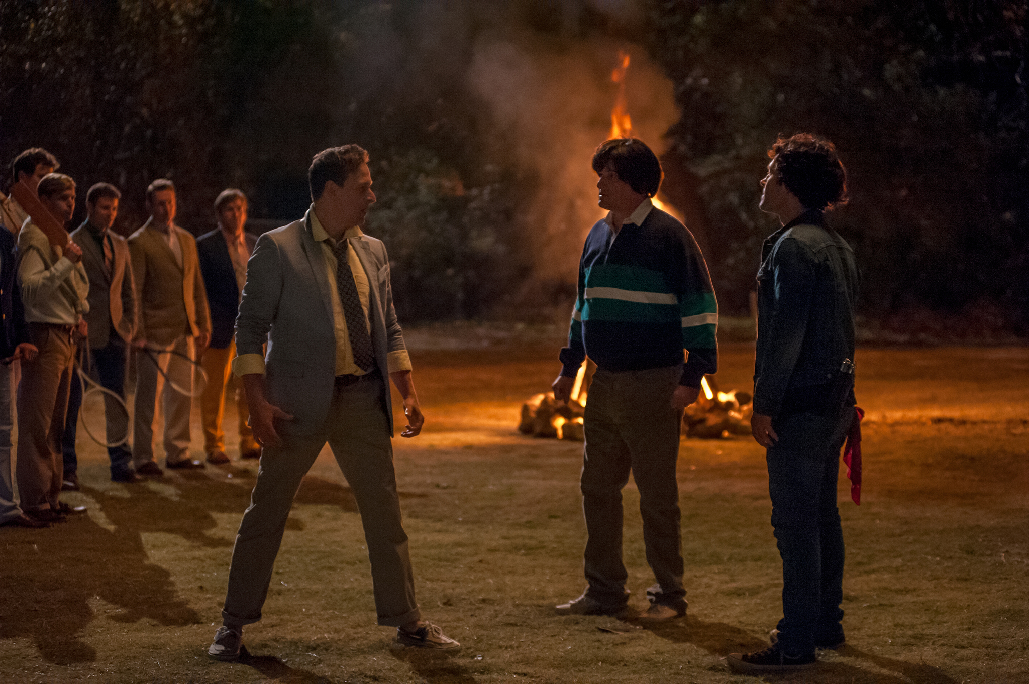 Josh Charles, Paul Rudd, and Michael Showalter in Wet Hot American Summer: First Day of Camp (2015)