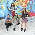 Jessica Sula, Meg DeLacy, Haley Lu Richardson, and Keith Powers in Recovery Road (2016)