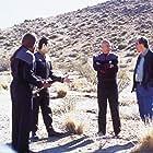 Michael Dorn, Brent Spiner, and Patrick Stewart in Star Trek: Nemesis (2002)