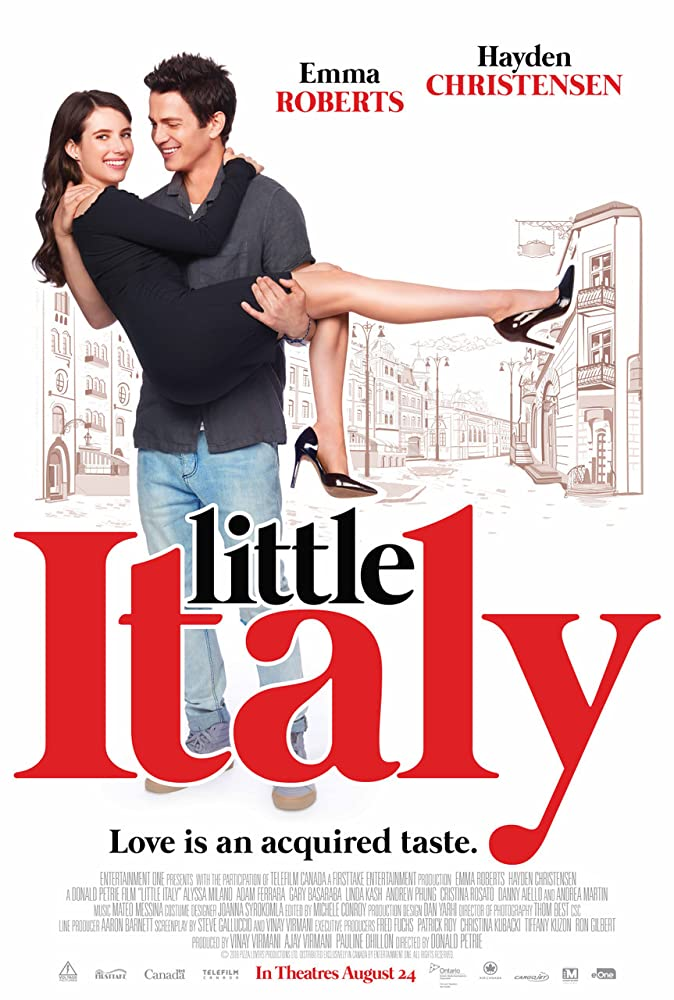 Hayden Christensen and Emma Roberts in Little Italy (2018)
