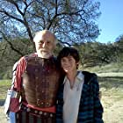 William Leon and Carmen Argenziano on the set of Don Quixote
