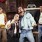 Danny DeVito, Christopher Lloyd, Tony Danza, and Judd Hirsch in Taxi (1978)